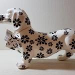 Decoratief Object Teckel Big Ted Bloemen