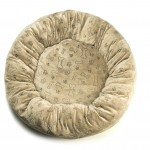 Donut mand Handmade with love taupe print beentjes